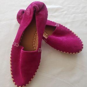 Tory Burch Shoes - Tory Burch Loafer Flats Fuscia Size 5